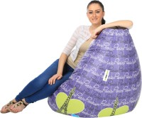 View Can Bean Bag XXL Bean Bag  With Bean Filling(Purple, Yellow) Price Online(Can Bean Bag)