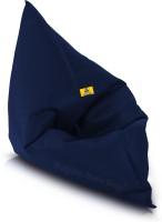 Dolphin Bean Bags XXXL Bean Bag Chair  With Bean Filling(Blue)