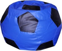 View Comfy Bean Bags XXXL Teardrop Bean Bag Cover(Blue, Black) Price Online(Comfy Bean Bags)