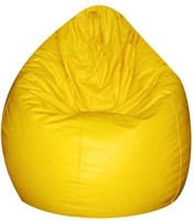 View IMUSI XL Bean Bag  With Bean Filling(Yellow) Price Online(IMUSI)