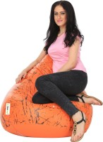 View Can Bean Bag XL Bean Bag  With Bean Filling(Orange, Black) Price Online(Can Bean Bag)