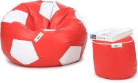 View Can Bean Bag XXXL Bean Bag  With Bean Filling(Red, White) Price Online(Can Bean Bag)