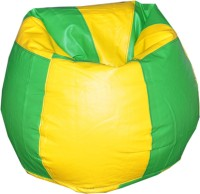 View Comfy Bean Bags XXL Bean Bag Cover(Green, Yellow) Price Online(Comfy Bean Bags)