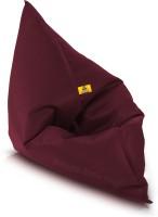 Dolphin Bean Bags XXXL Bean Bag Chair  With Bean Filling(Maroon)