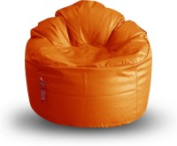 View Style Homez XXXL Lounger Bean Bag  With Bean Filling(Orange) Furniture (Style Homez)