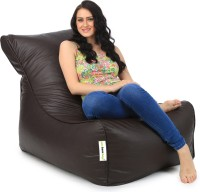 Can bean bags XXXL Lounger Bean Bag Cover  (Without Beans)(Brown)