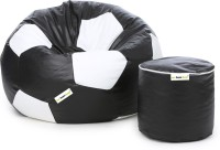 View Can Bean Bag XXXL Bean Bag  With Bean Filling(Black, White) Price Online(Can Bean Bag)