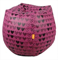 View ORKA XXXL Bean Bag Cover  (Without Beans)(Pink, Black) Furniture (ORKA)
