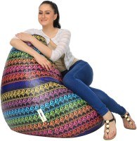 Can bean bags XXXL Bean Bag Cover  (Without Beans)(Multicolor)