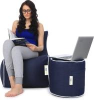 Can bean bags XXXL Bean Chair Cover  (Without Beans)(Blue)