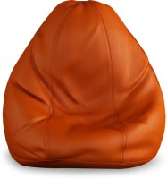 Beans Bag House XXXL Bean Bag Cover  (Without Beans)(Orange)