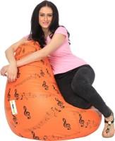 Can bean bags XXXL Bean Bag Cover  (Without Beans)(Orange, Black)
