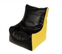View ARRA Medium Bean Bag Cover(Black, Yellow) Furniture (ARRA)