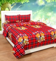 The Divine Polyester King Bed Cover(Multicolor, 1 Double Bedsheet With 2 Pillow Covers)