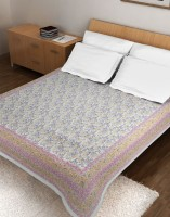 Ratan Jaipur Cotton Double Bed Cover(Pink)