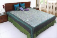 Coco Bee Silk Double Bed Cover(Multicolor)