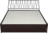 Godrej Interio Liva Metal King Bed With Storage(Finish Color -  Wine Red)