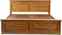 View Evok Rivieria Solid Wood King Bed(Finish Color -  Light Honey) Furniture (Evok)