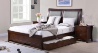 Urban Ladder Packard Solid Wood King Bed With Storage(Finish Color -  Dark Walnut)
