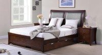 Urban Ladder Packard Solid Wood Queen Bed With Storage(Finish Color -  Dark Walnut)