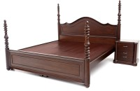 Furnicity Engineered Wood King Bed(Finish Color -  Walnut)