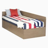 Godrej Interio FLOYD SINGLE BED Engineered Wood Single Bed With Storage(Finish Color -  Valigny Oak)