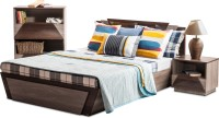 View Durian THOMAS/Queen Bed/A Engineered Wood Queen Bed With Storage(Finish Color -  Africana/Dark Birch) Furniture (Durian)