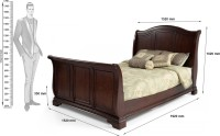 Dream Furniture Solid Wood Queen Bed(Finish Color -  Brown)