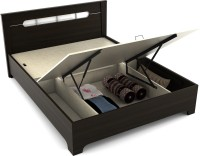 Spacewood Engineered Wood Queen Bed With Storage(Finish Color -  Fumed Oak)