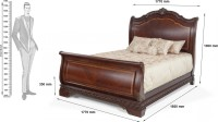 Dream Furniture Solid Wood King Bed(Finish Color -  Brown)