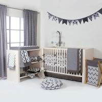 Bacati Cotton Bedding Set(Grey)