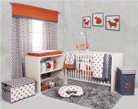 Bacati Cotton Bedding Set(Orange)