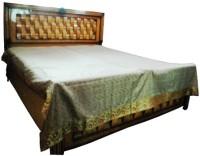 Baba Handicraft Pure Silk Bedding Set(Grey)