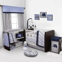 Bacati Cotton Bedding Set(Blue)
