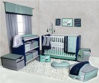 Bacati Cotton Bedding Set(Mint)