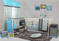 Bacati Cotton Bedding Set(Aqua