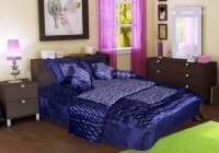 Chelsi Satin Bedding Set(Blue)
