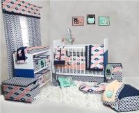 Bacati Cotton Bedding Set(Coral)