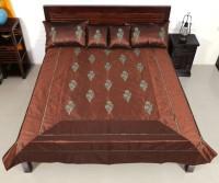 Indigenous Handicrafts Polydupion Bedding Set(Coffee)
