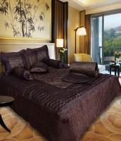 fashionadobe Satin Bedding Set(Brown)