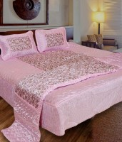 fashionadobe Satin Bedding Set(Pink)