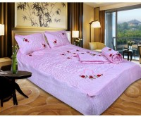 Chelsi Satin Bedding Set(Pink)