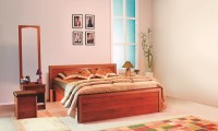 Godrej Interio Engineered Wood Bed + Side Table + Wardrobe + Dressing Table(Finish Color - Walnut)