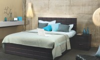 Godrej Interio Engineered Wood Bed + Side Table + Wardrobe(Finish Color - Cola Rain)