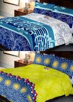 Indien Casa 108 TC Cotton Double Floral Bedsheet(Pack of 2, Multicolor)