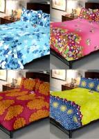 Indien Casa 108 TC Cotton Double Floral Bedsheet(Pack of 4, Multicolor)