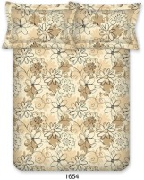 Bombay Dyeing 110 TC Cotton Double Floral Bedsheet(Pack of 1, Brown)