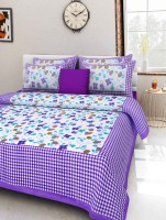 100% cotton bedsheet 300 TC Cotton Double King Printed Bedsheet(Pack of 1, Multicolor)