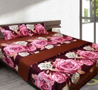 Urban Arts Polycotton Double Floral Bedsheet(Pack of 1, Multicolor)