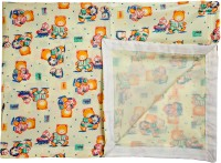 Love Baby Single Bedsheet(Pack of 1, Yellow)